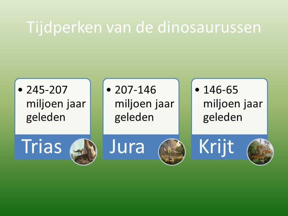 Tijdperken van de dinosaurussen