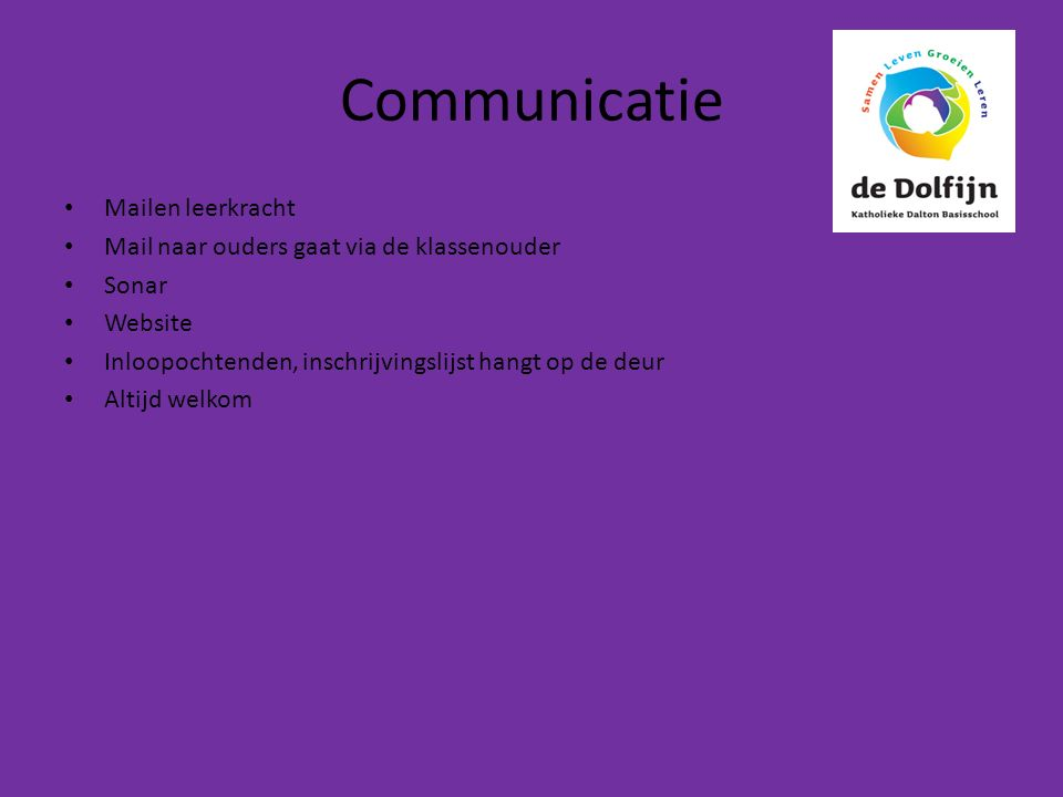 Communicatie Mailen leerkracht