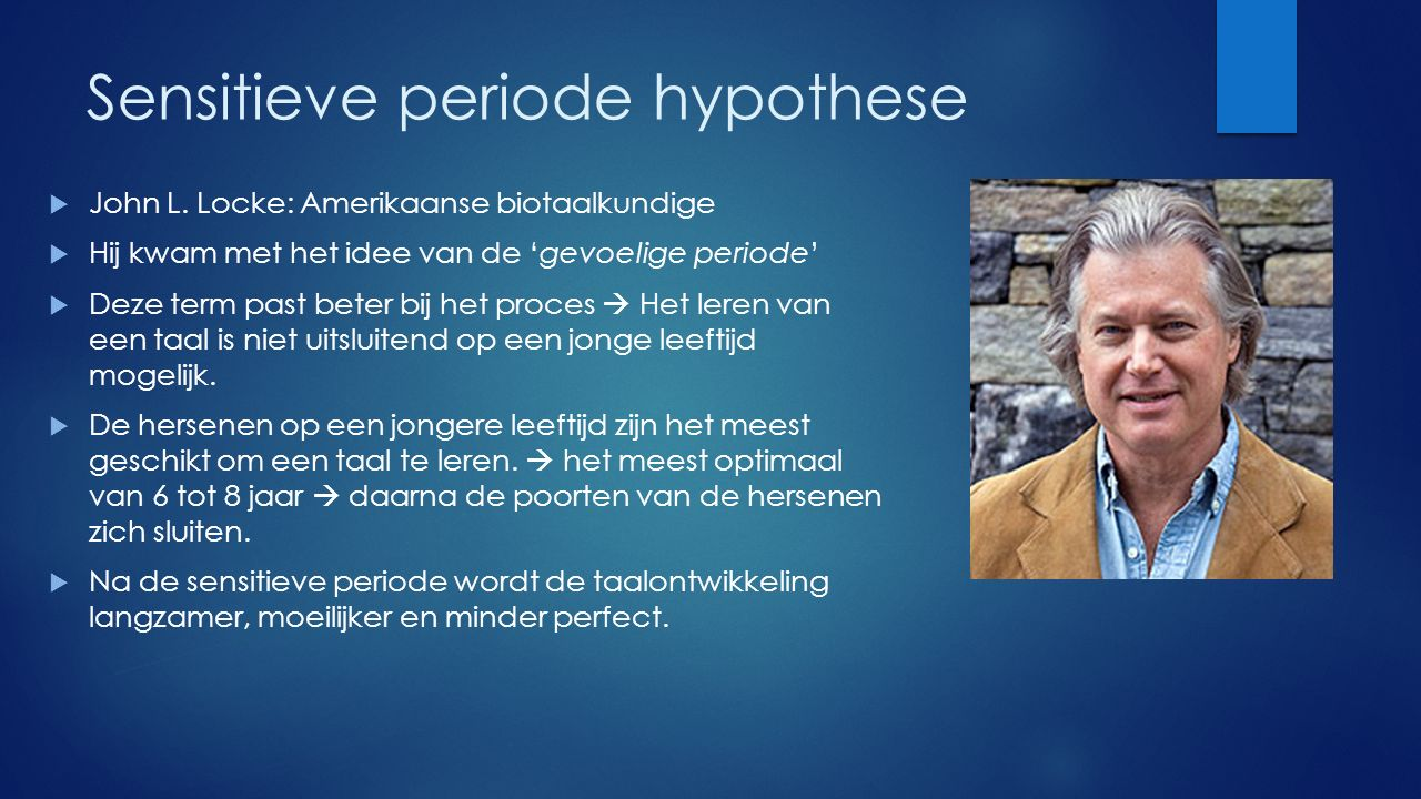 Sensitieve periode hypothese