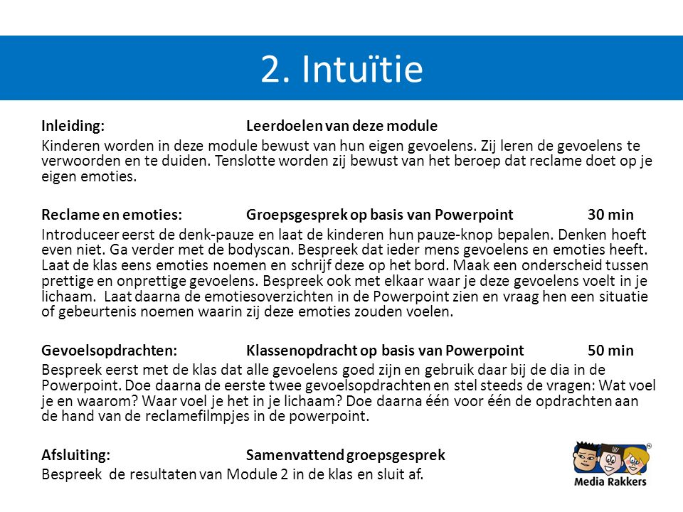 2. Intuïtie
