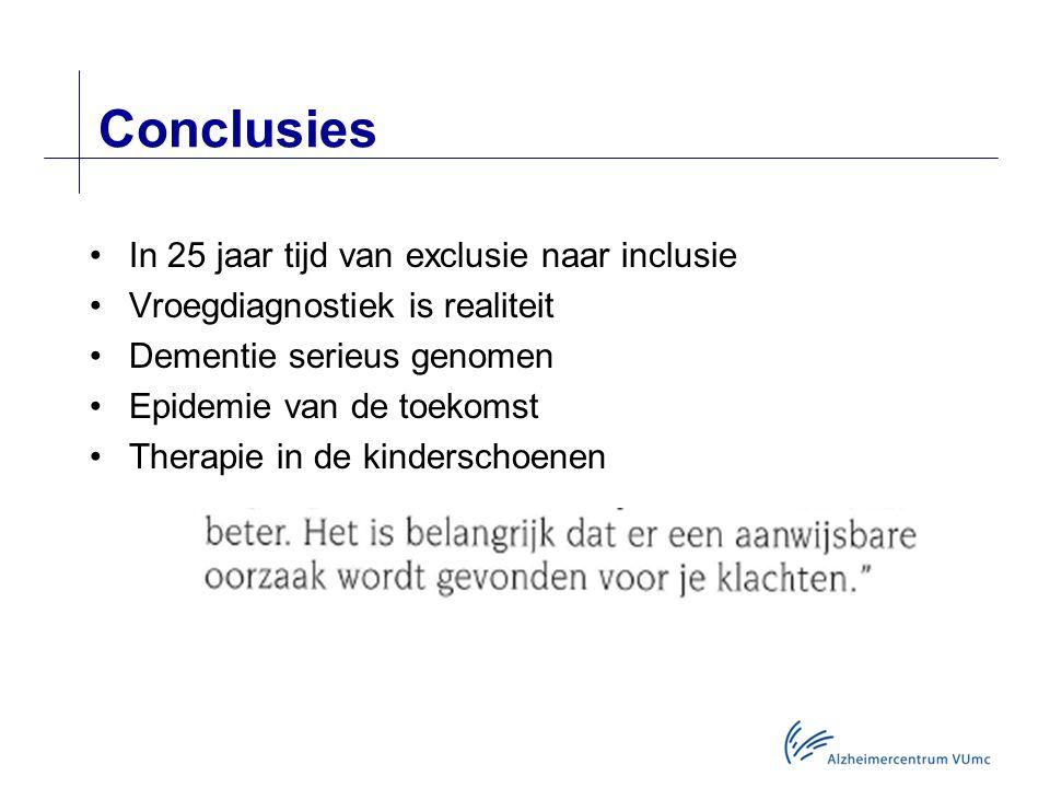 Conclusies In 25 jaar tijd van exclusie naar inclusie