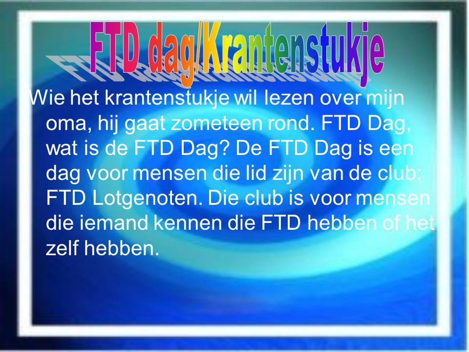 FTD dag/Krantenstukje