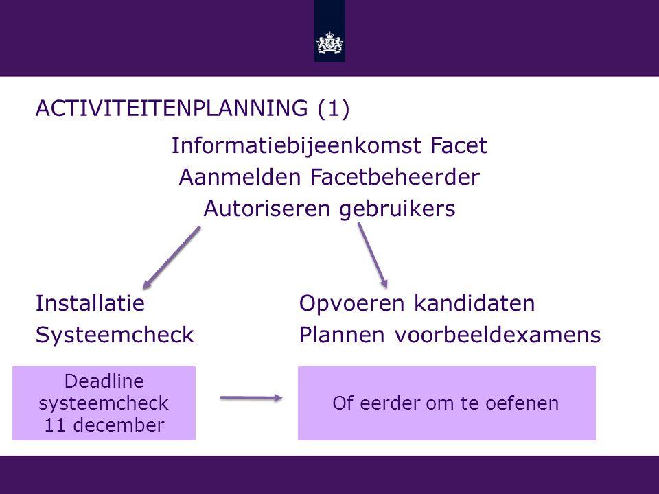 Activiteitenplanning (1)