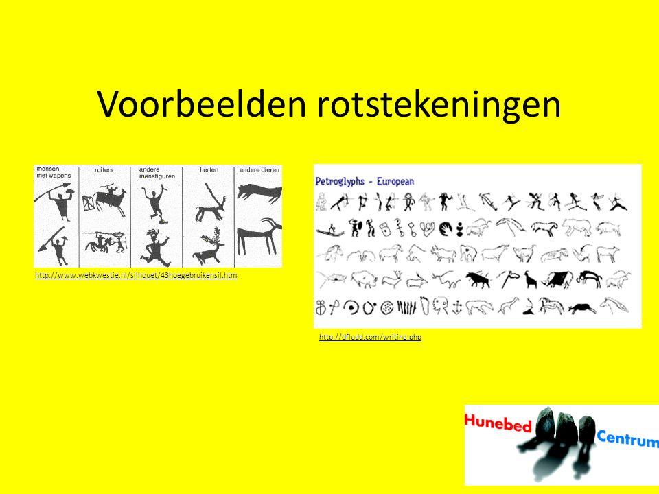 Voorbeelden rotstekeningen