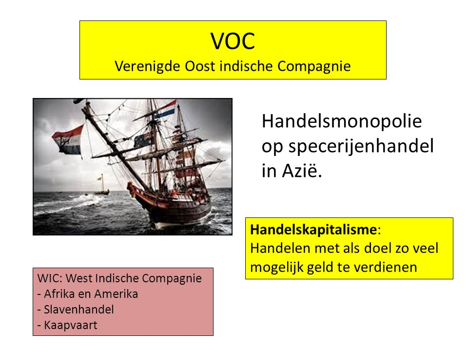 VOC Verenigde Oost indische Compagnie