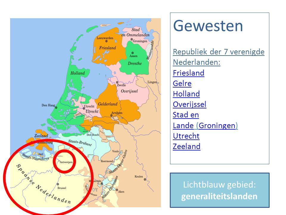 Lichtblauw gebied: generaliteitslanden