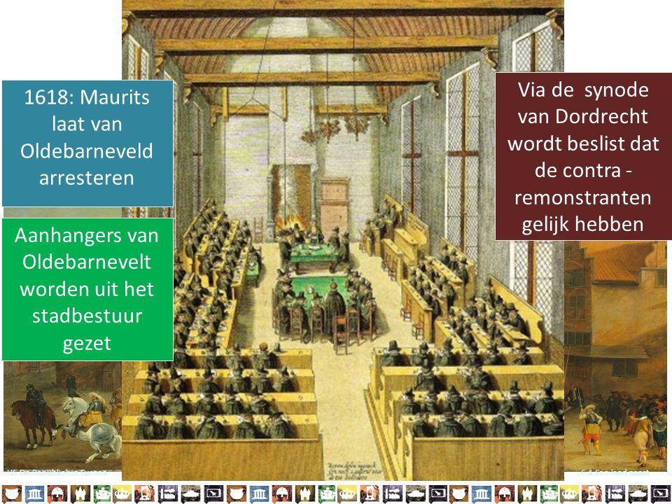 1618: Maurits laat van Oldebarneveld arresteren