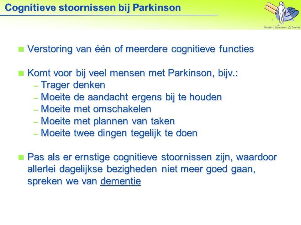 Cognitieve stoornissen bij Parkinson