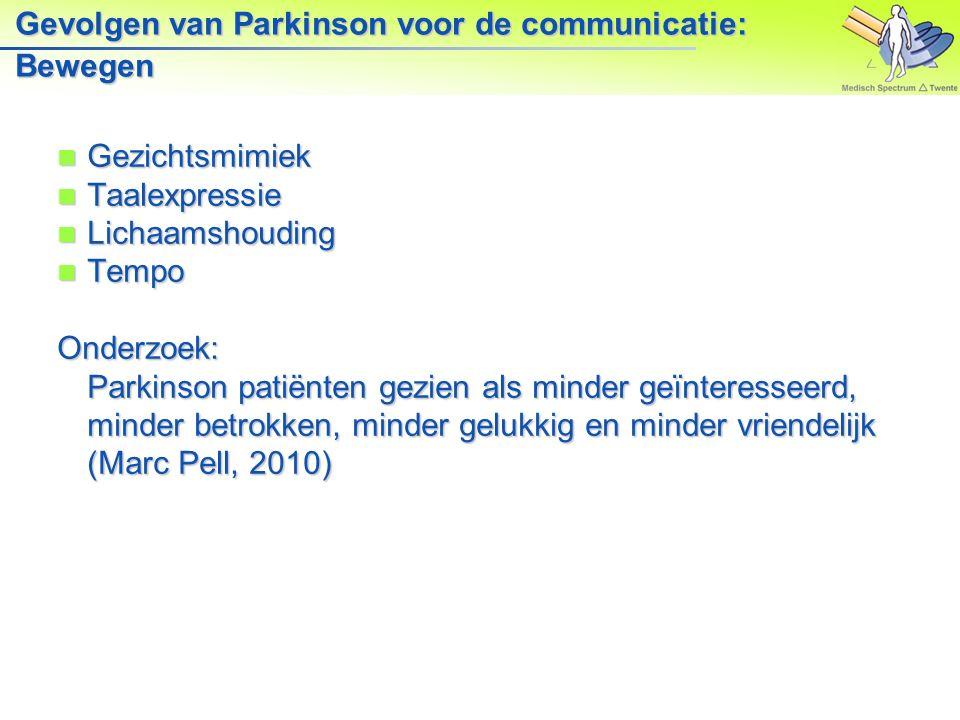 Gevolgen van Parkinson voor de communicatie: Bewegen