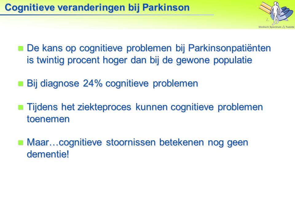 Cognitieve veranderingen bij Parkinson