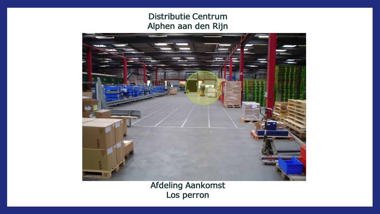 Distributie Centrum Alphen aan den Rijn Afdeling Aankomst Los perron