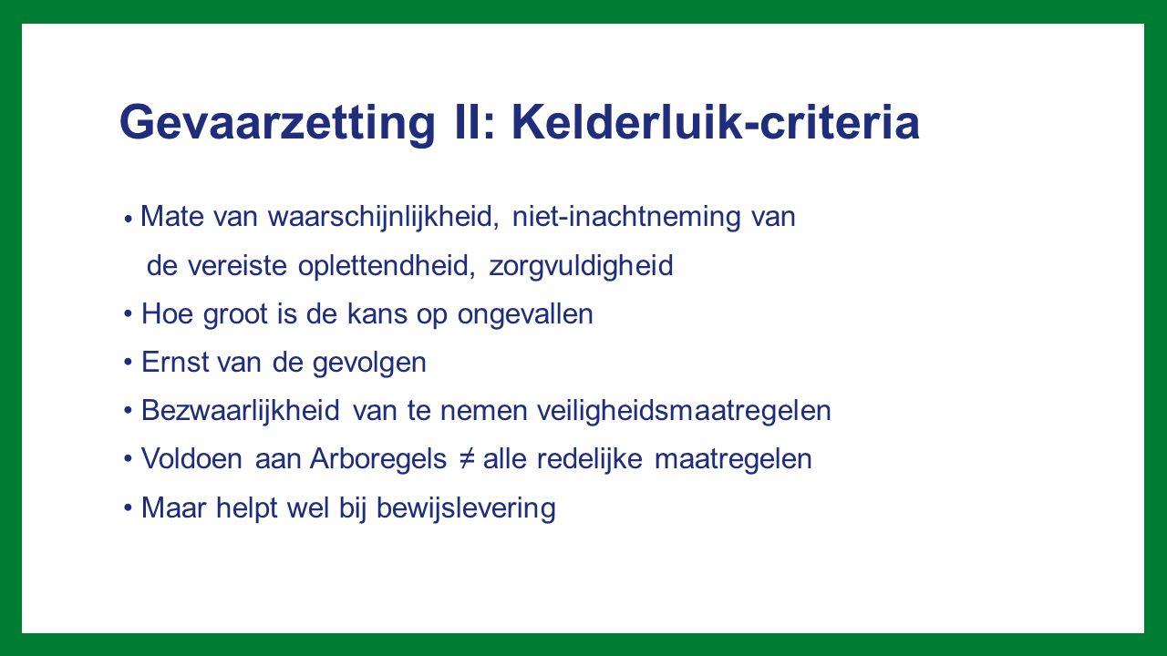 Gevaarzetting II: Kelderluik-criteria