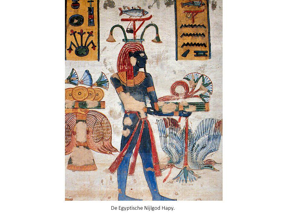 De Egyptische Nijlgod Hapy.