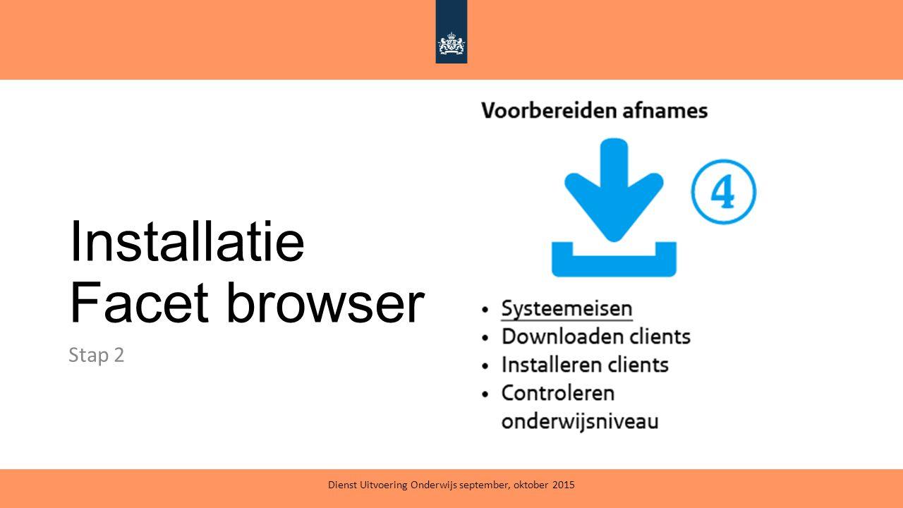 Installatie Facet browser