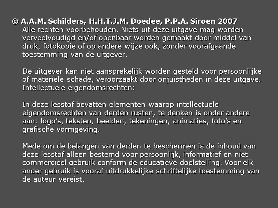 © A. A. M. Schilders, H. H. T. J. M. Doedee, P. P. A