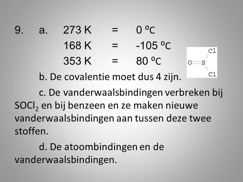 9. a. 273 K = 0 ⁰C 168 K = -105 ⁰C 353 K = 80 ⁰C b.