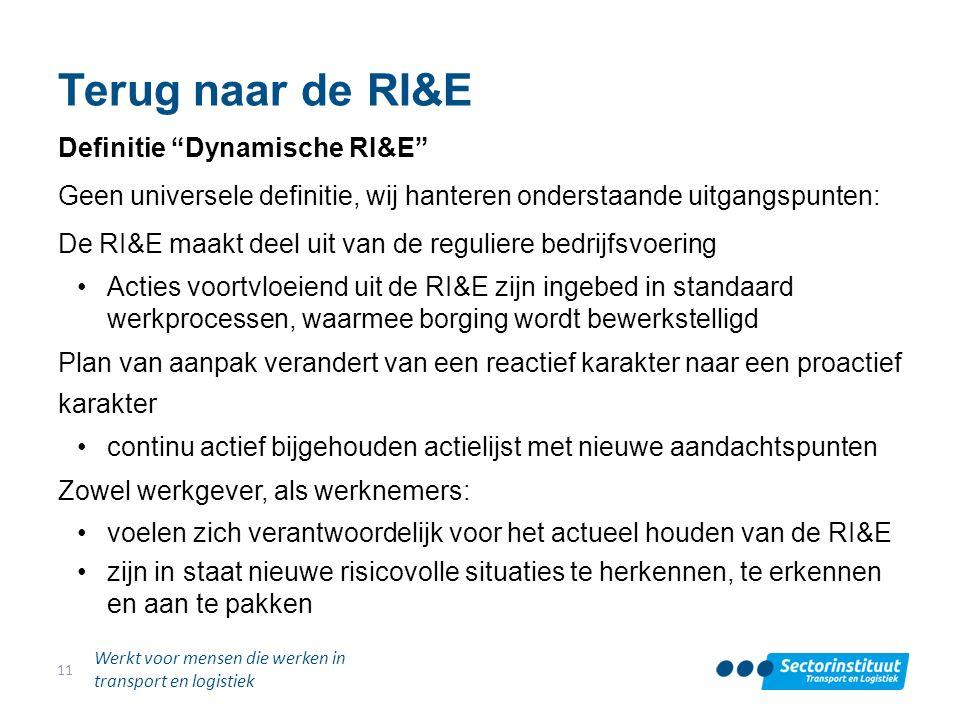 Terug naar de RI&E Definitie Dynamische RI&E