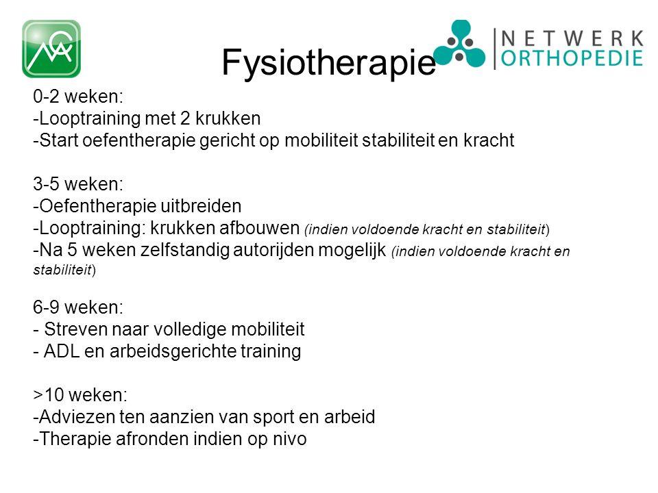 Fysiotherapie 0-2 weken: