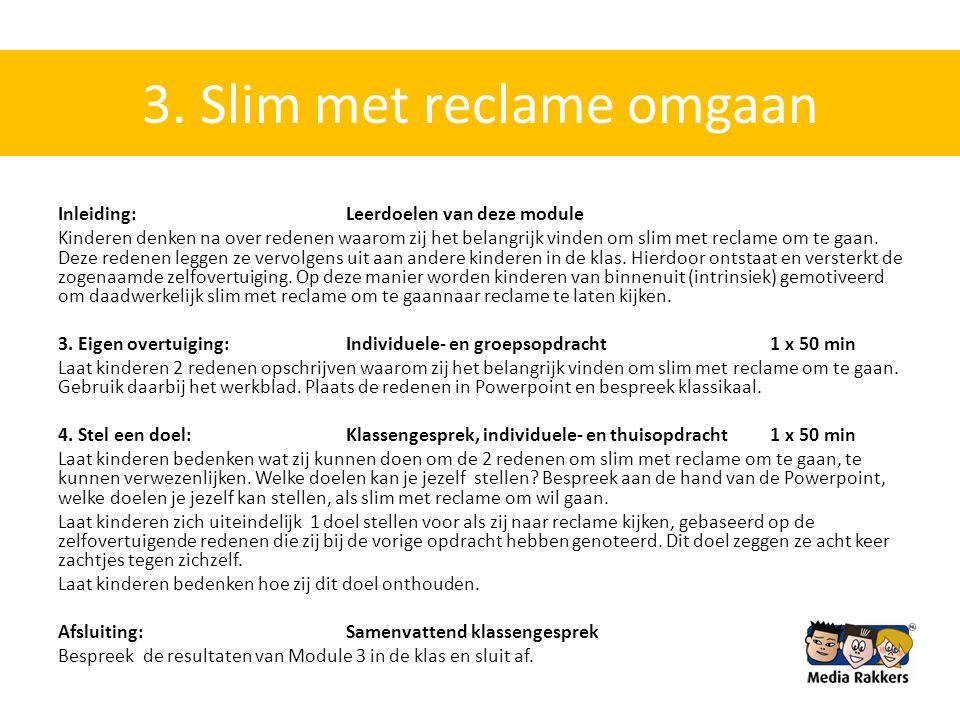 3. Slim met reclame omgaan