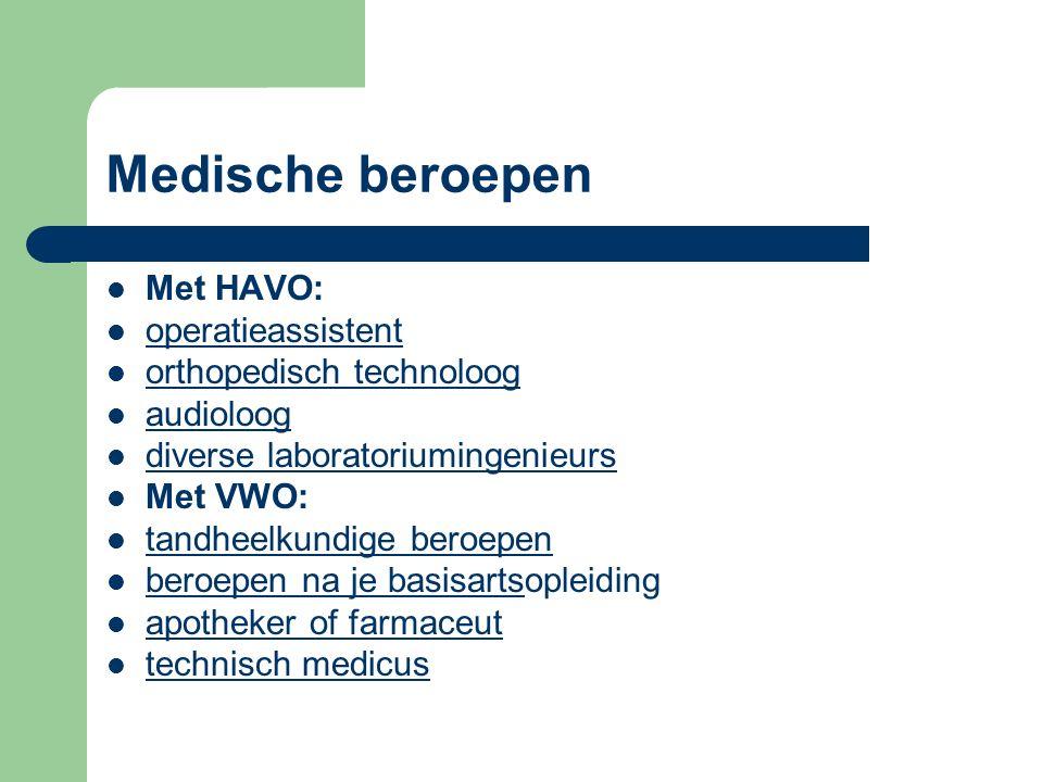 Medische beroepen Met HAVO: operatieassistent orthopedisch technoloog