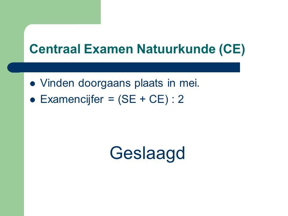 Centraal Examen Natuurkunde (CE)