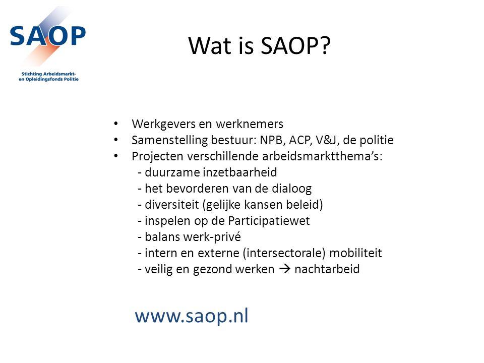 Wat is SAOP www.saop.nl Werkgevers en werknemers