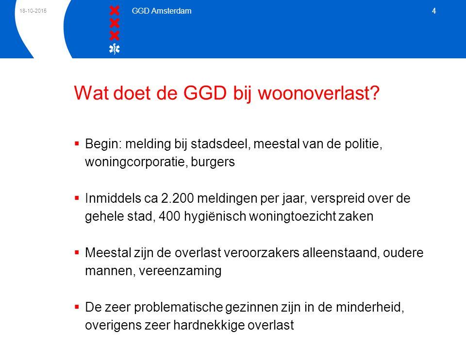 Wat doet de GGD bij woonoverlast
