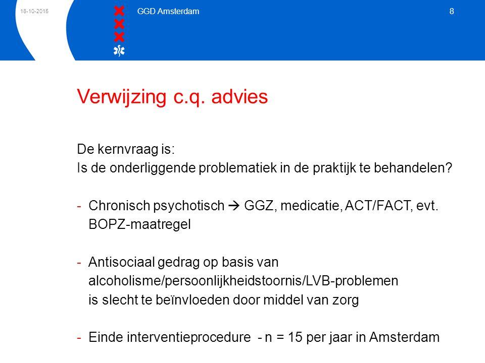 Verwijzing c.q. advies De kernvraag is: