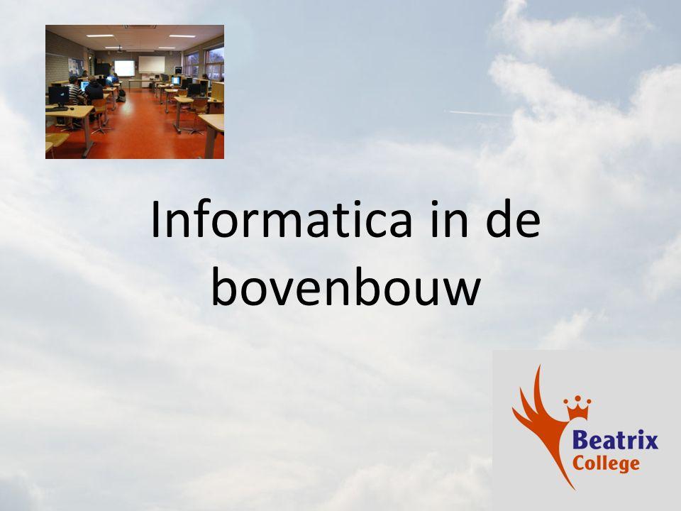 Informatica in de bovenbouw