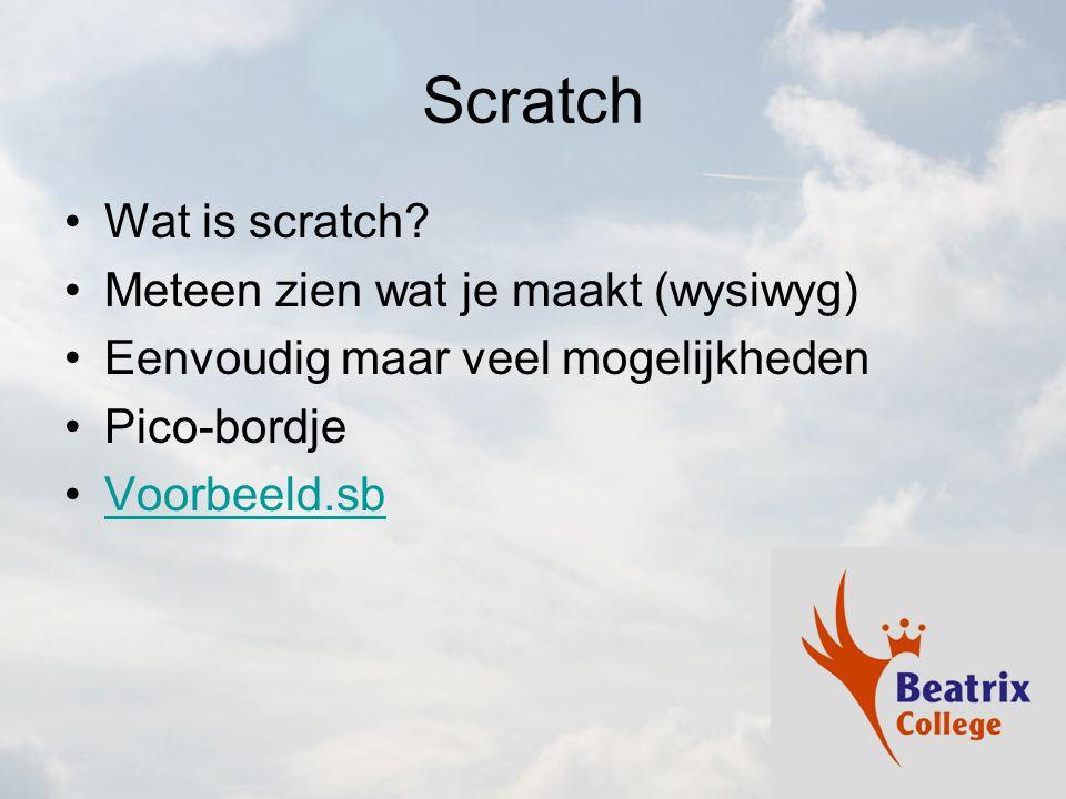 Scratch Wat is scratch Meteen zien wat je maakt (wysiwyg)