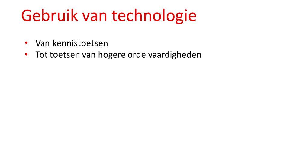 Gebruik van technologie