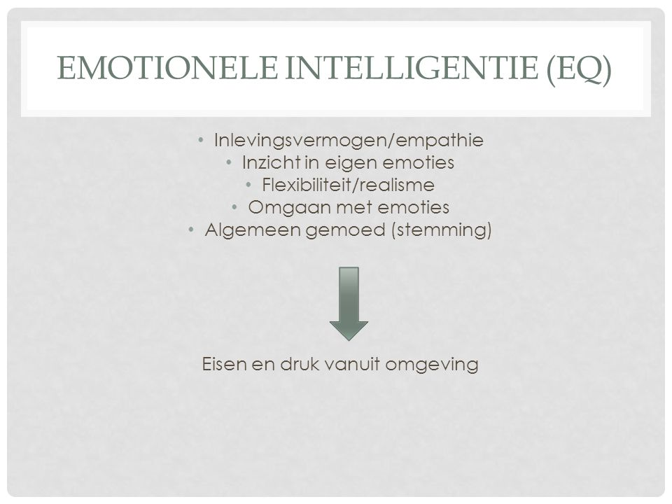 Emotionele intelligentie (EQ)