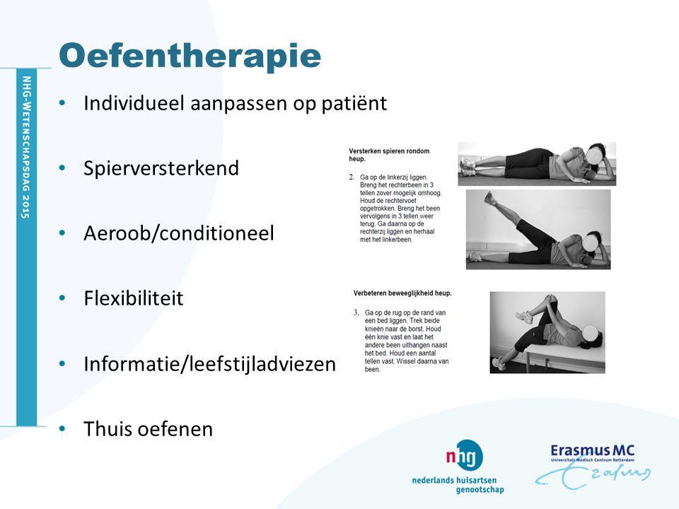 Oefentherapie Individueel aanpassen op patiënt Spierversterkend