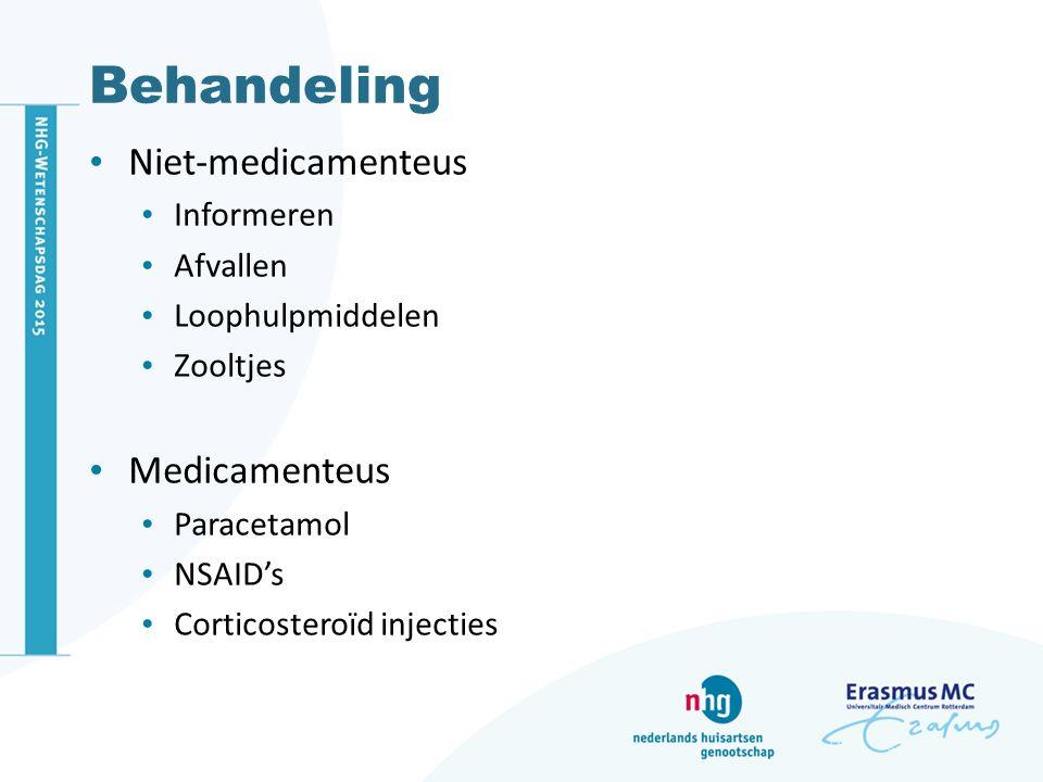 Behandeling Niet-medicamenteus Medicamenteus Informeren Afvallen