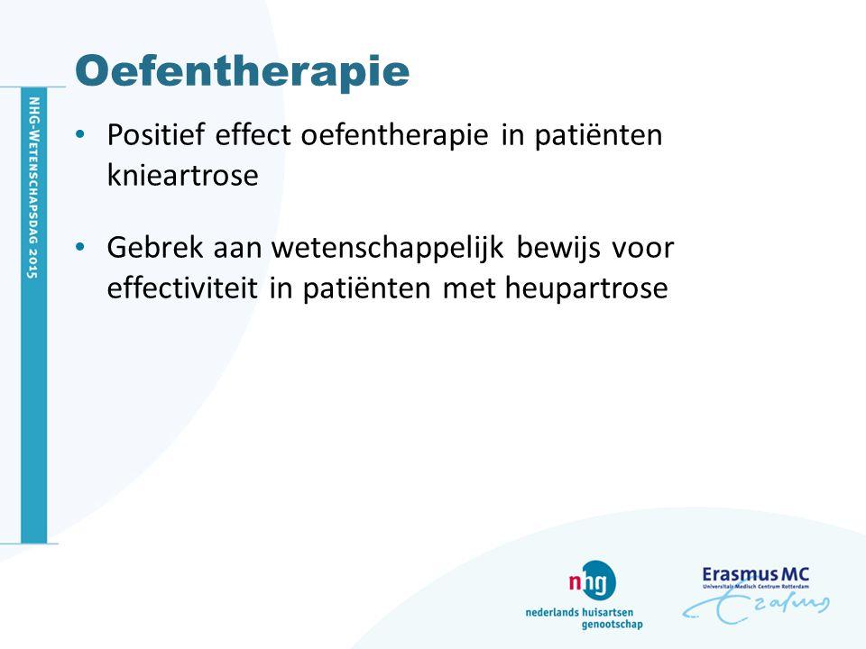 Oefentherapie Positief effect oefentherapie in patiënten knieartrose