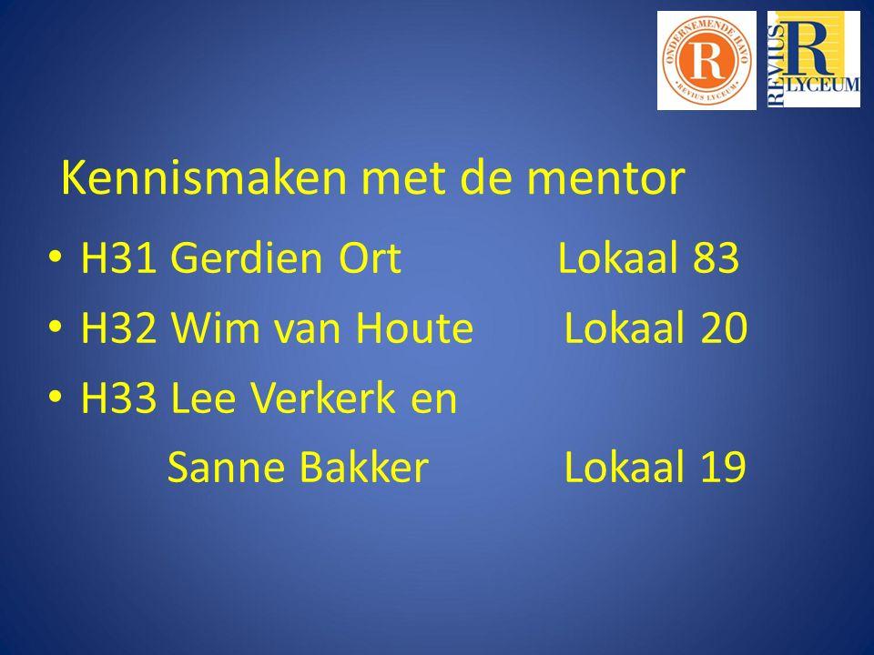 Kennismaken met de mentor