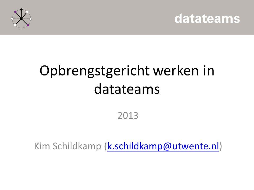 Opbrengstgericht werken in datateams
