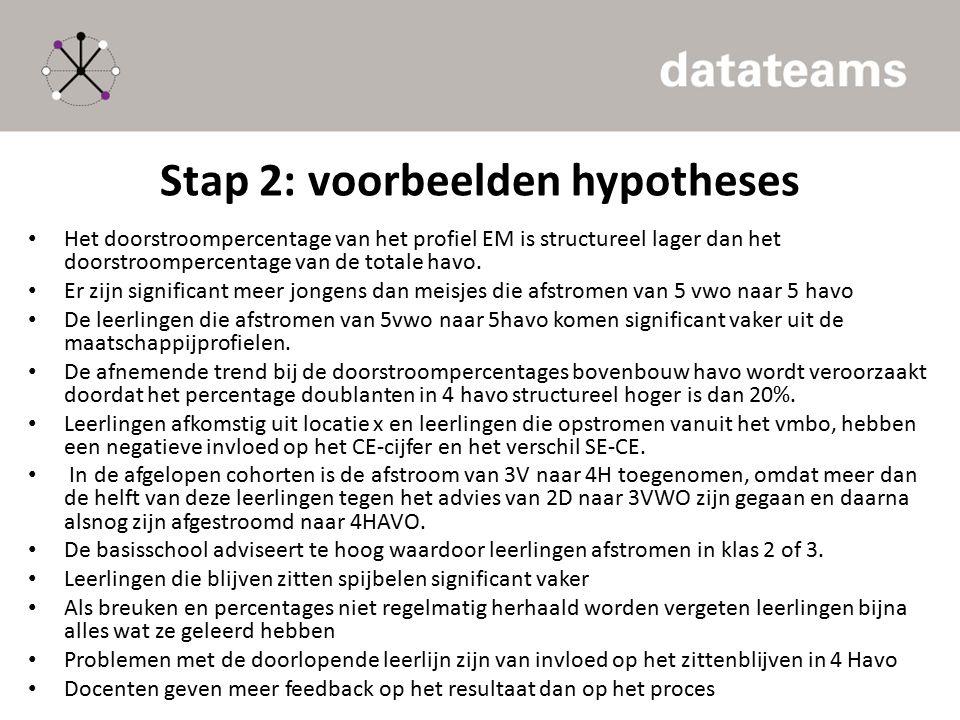 Stap 2: voorbeelden hypotheses