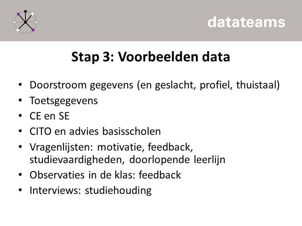 Stap 3: Voorbeelden data