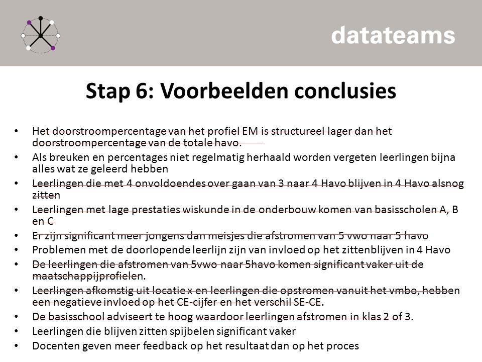 Stap 6: Voorbeelden conclusies