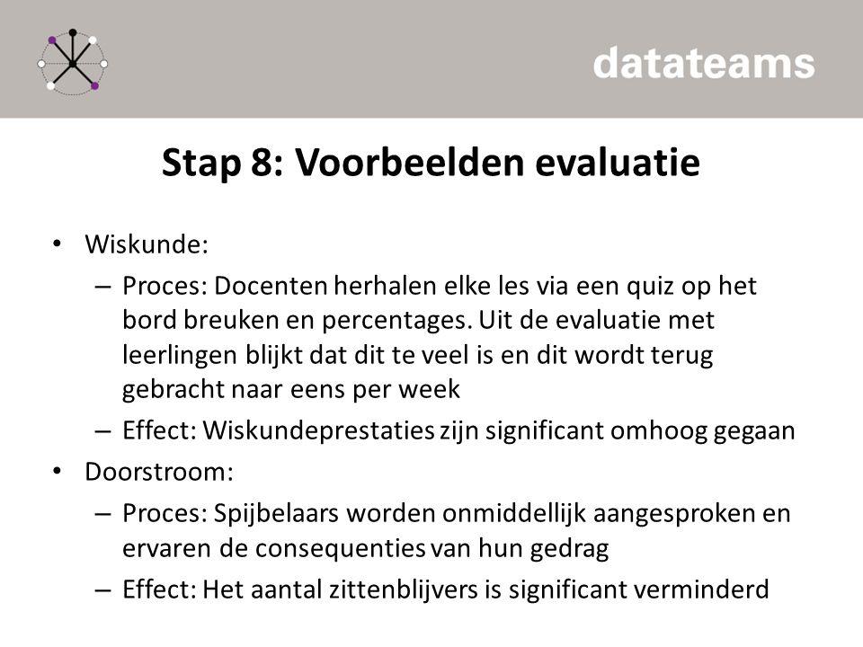 Stap 8: Voorbeelden evaluatie