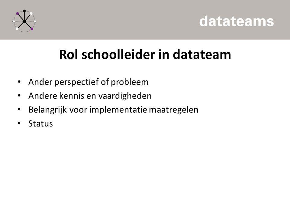 Rol schoolleider in datateam