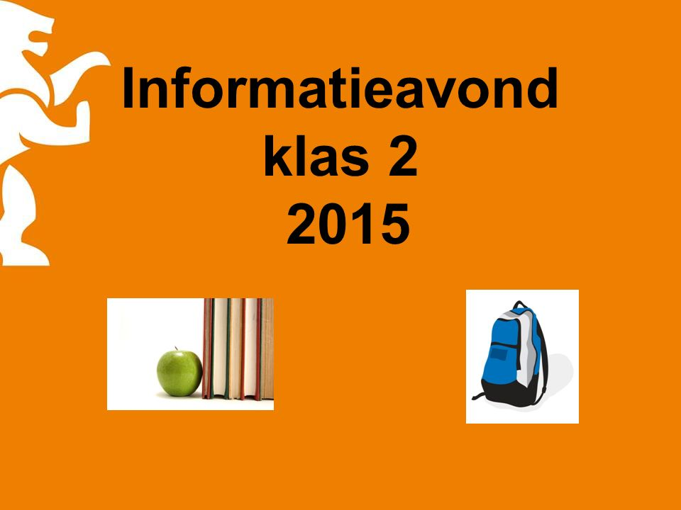 Informatieavond klas 2 2015