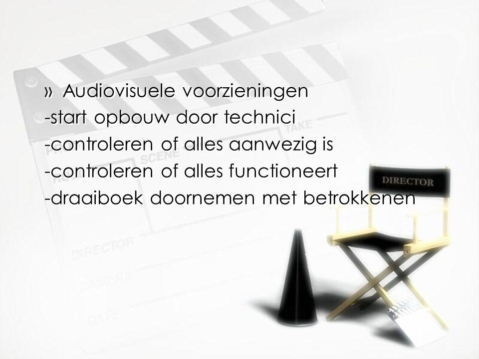 Audiovisuele voorzieningen