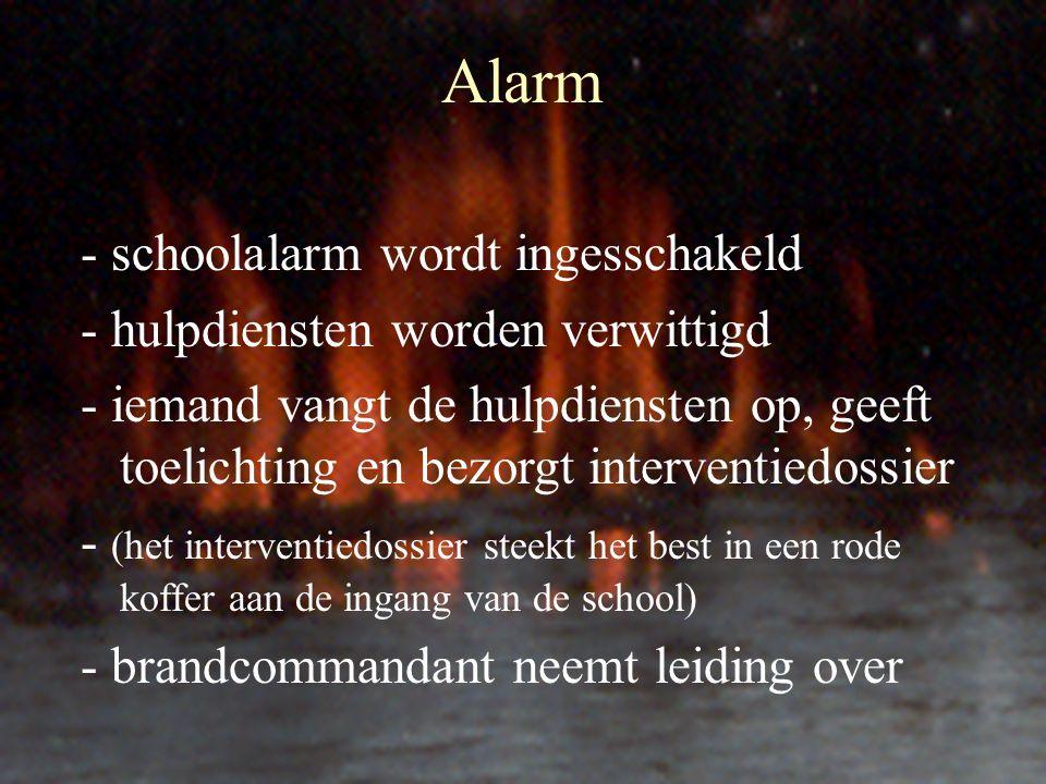 Alarm - schoolalarm wordt ingesschakeld