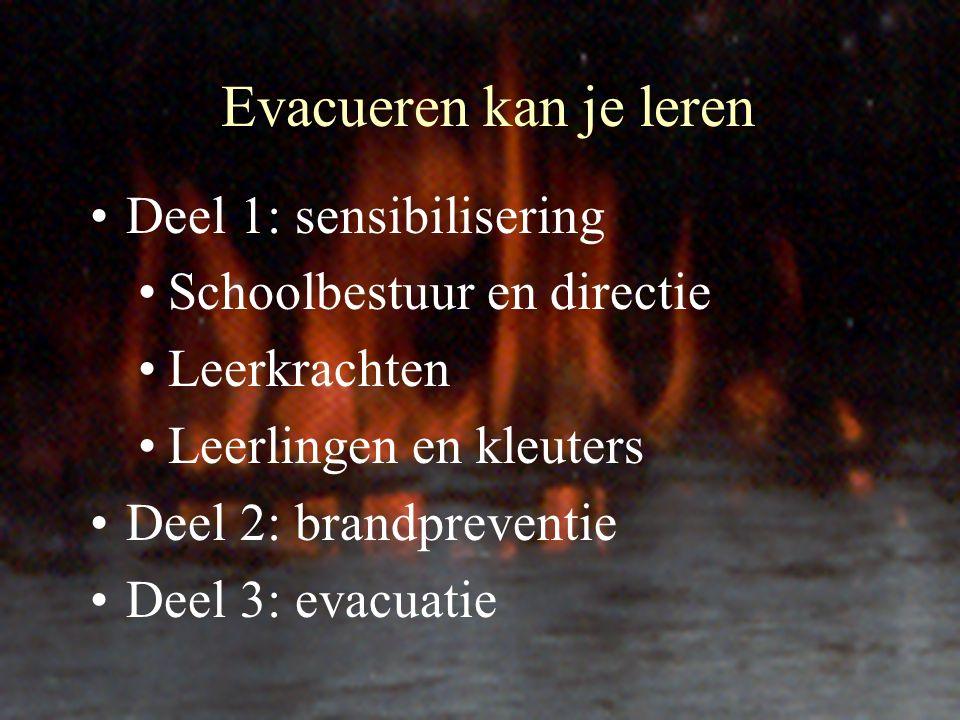 Evacueren kan je leren Deel 1: sensibilisering