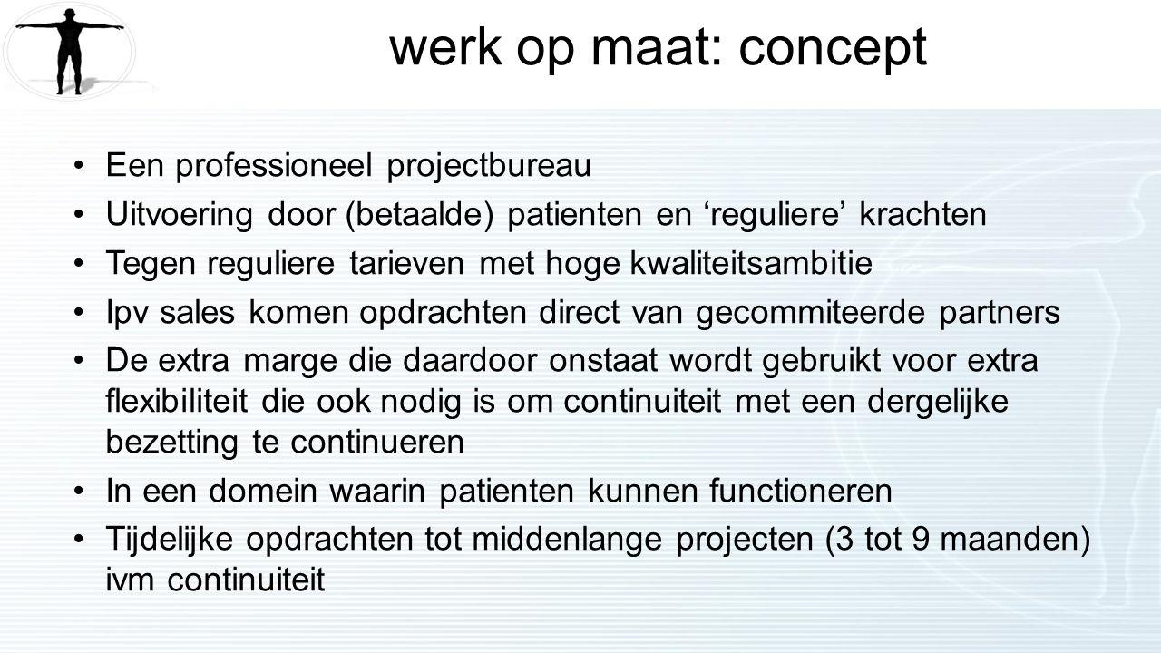 werk op maat: concept Een professioneel projectbureau