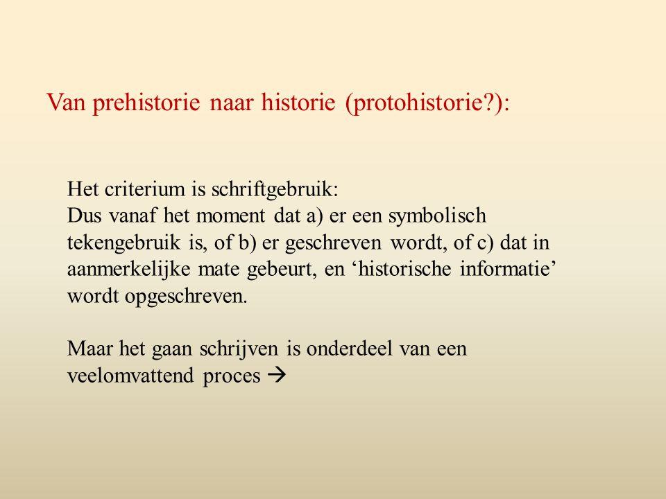 Van prehistorie naar historie (protohistorie ):