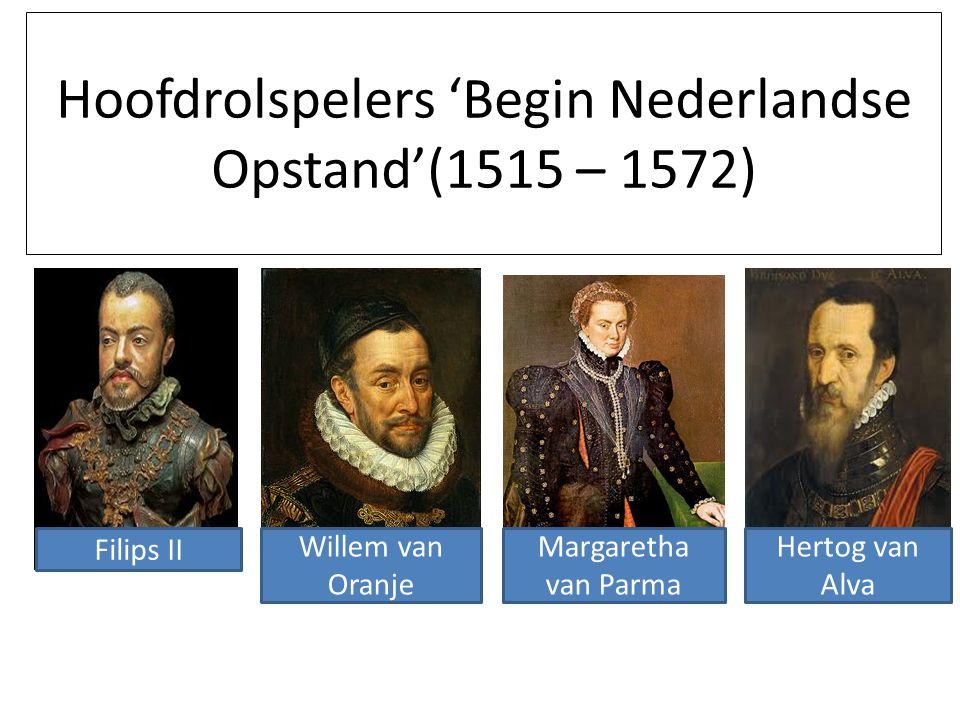 Hoofdrolspelers 'Begin Nederlandse Opstand'(1515 – 1572)