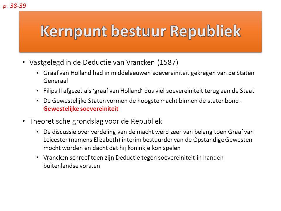 Kernpunt bestuur Republiek